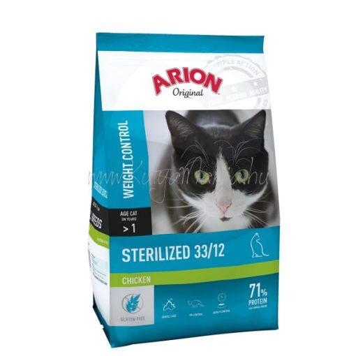 ARION Original Cat STERILIZED 33/12 Chicken 7,5 kg